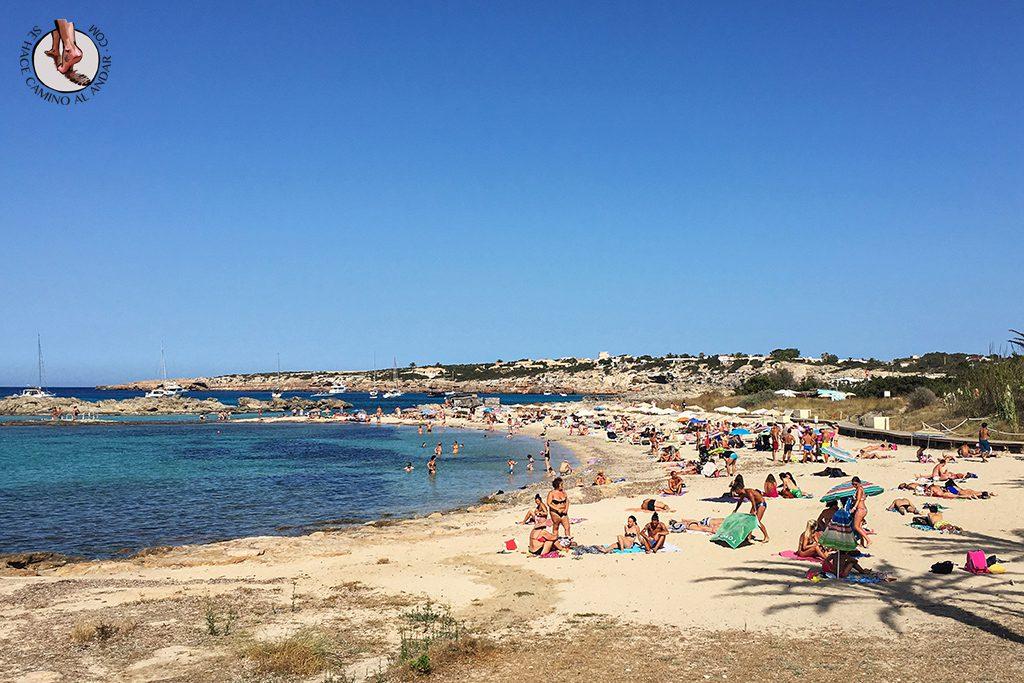 Playa Formentera Es Pujols arena