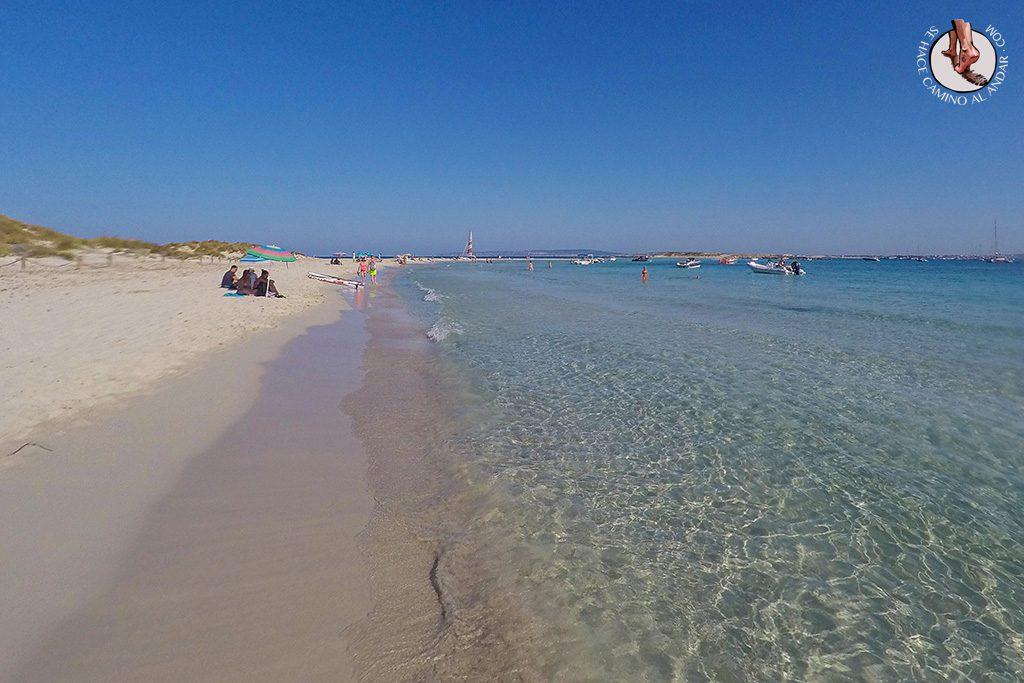 Playa Formentera Isla Espalmador agua transparente