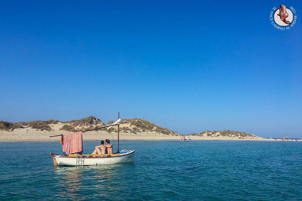 Playa Formentera Isla Espalmador barco