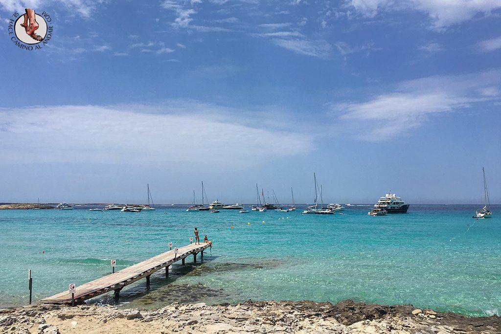 Playa Formentera Ses Illetes pasarela