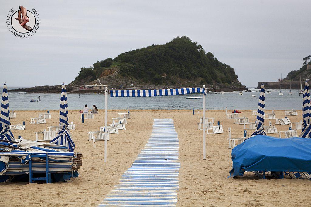 Playa San Sebastian Ondarreta entrada