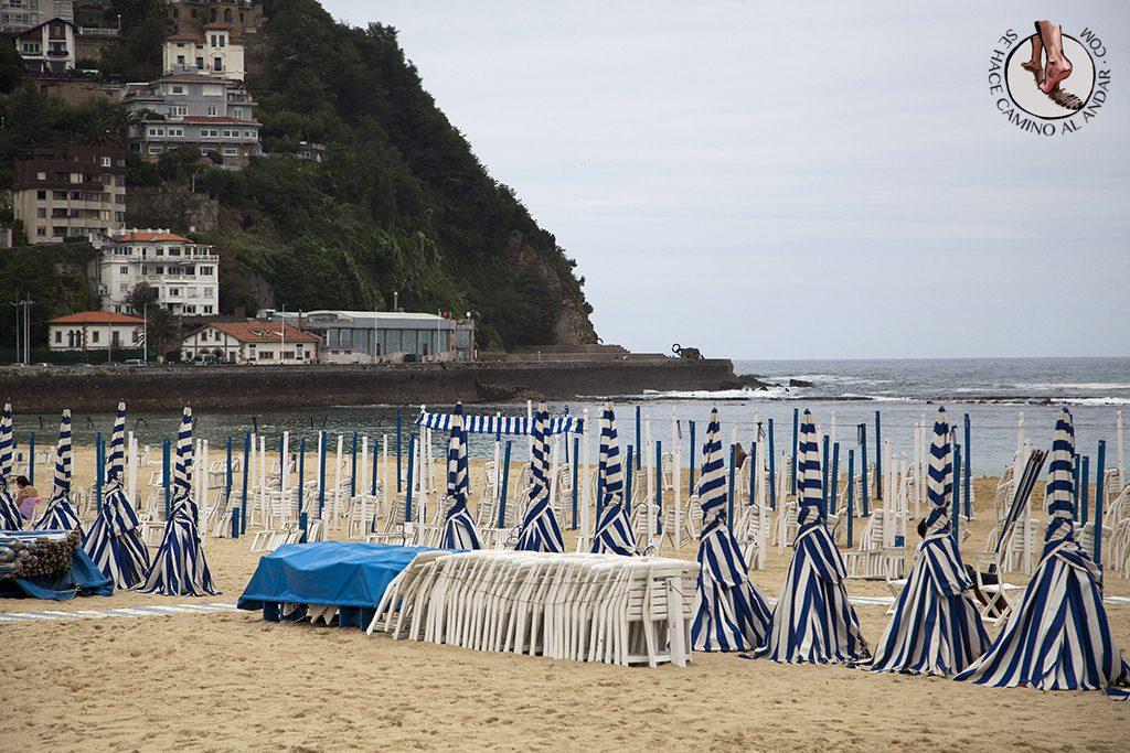 Playas San Sebastian Ondarreta Peine del Viento
