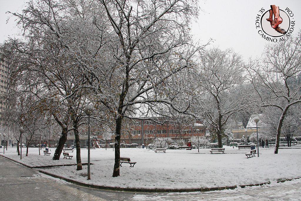 Plaza Ferrerias nevado