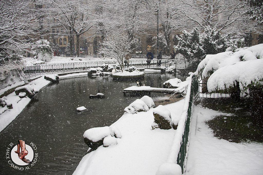 Plaza Gipuzkoa nieve
