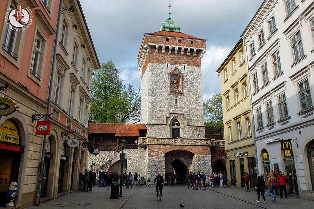 Puerta San Florián Muralla Cracovia