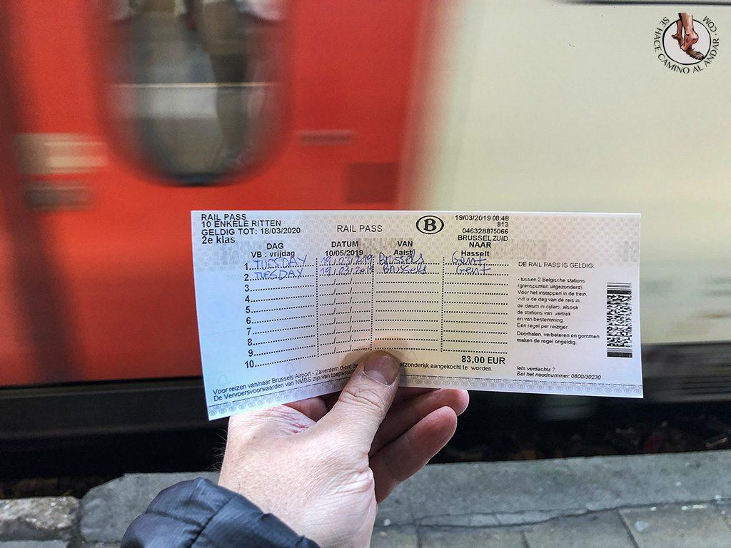 Rail Pass como rellenar billete