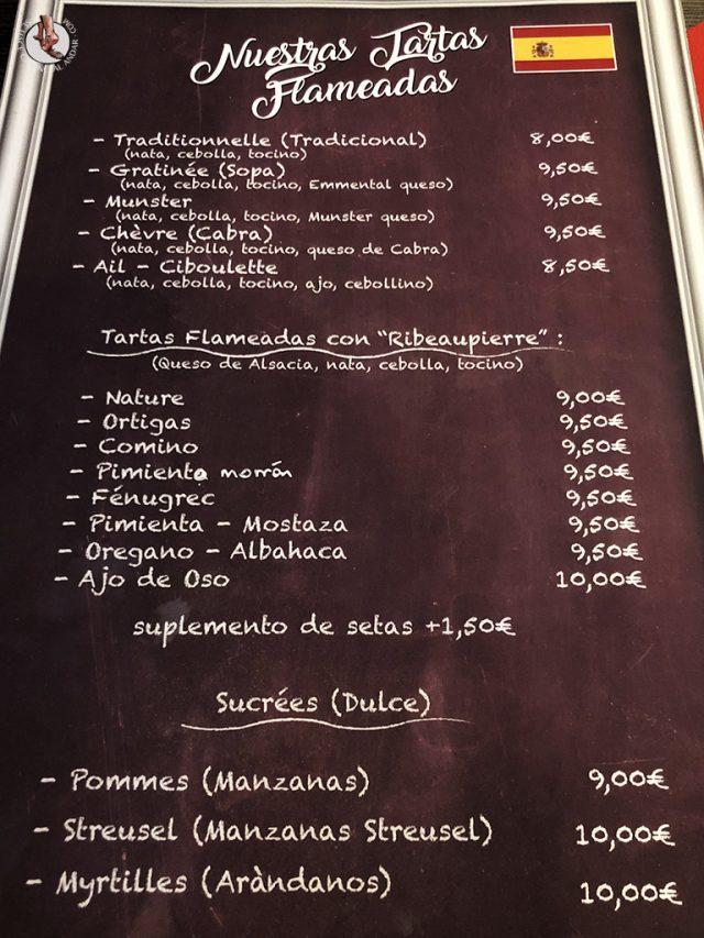 Restaurantes de Colmar La Soi menu