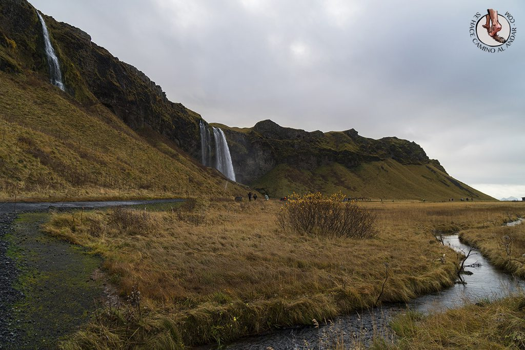 Ring Road 1-7 Cascada Seljalandsfoss rio