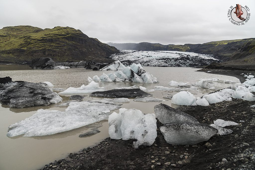 Ring Road 2-7 Glaciar Solheimajokull hielo orilla