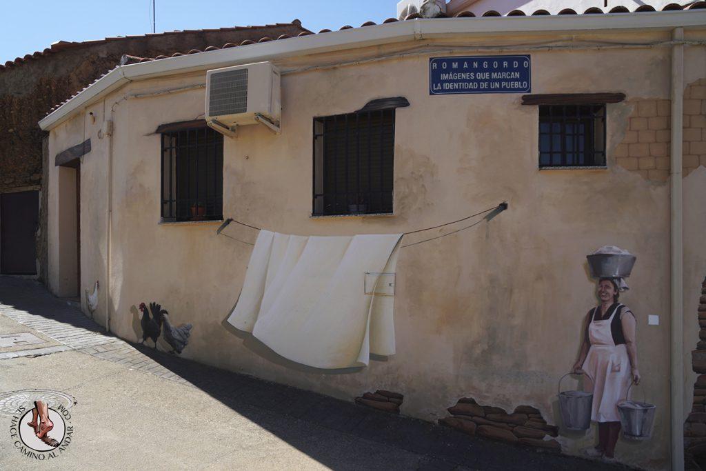 Romangordo ruta trampantojos lavandera