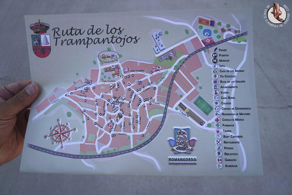 Romangordo ruta trampantojos mapa