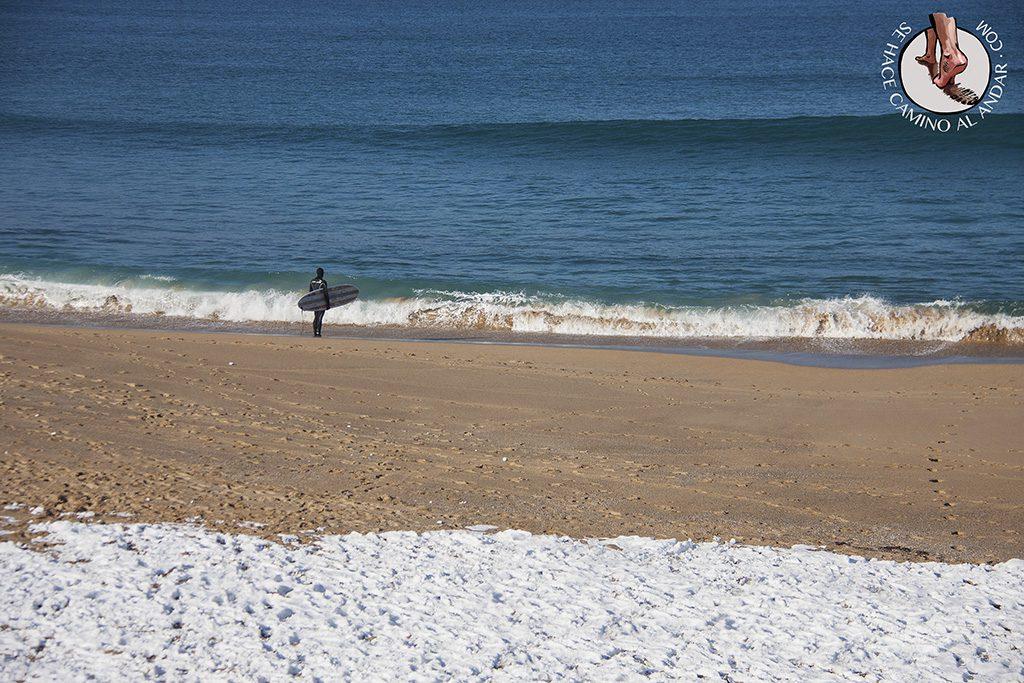 Surfista miedo mar nieve