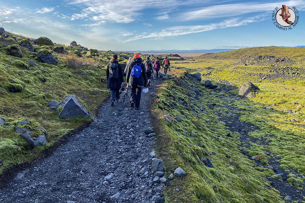 Trekking glaciar Virkisjokull camino vuelta