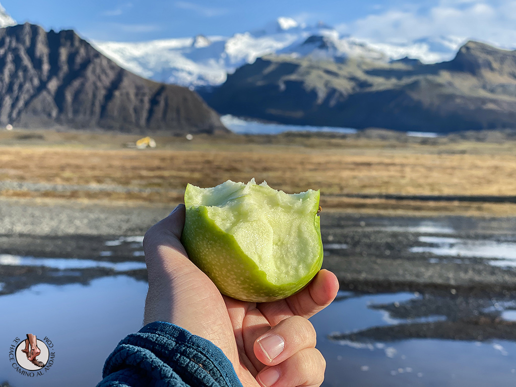 Trekking glaciar Virkisjokull recompensa