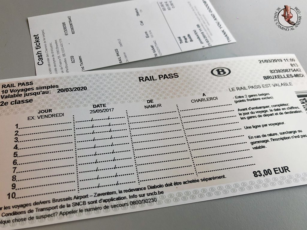 Tren Belgica rail pass