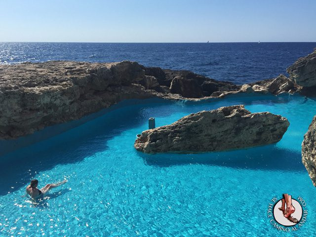 Una piscina natural escondida entre las rocas de Mallorca 7