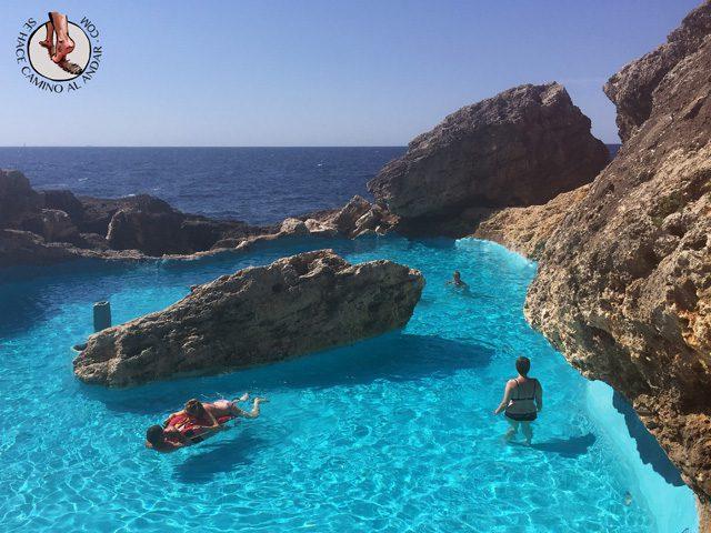 Una piscina natural escondida entre las rocas de Mallorca 9