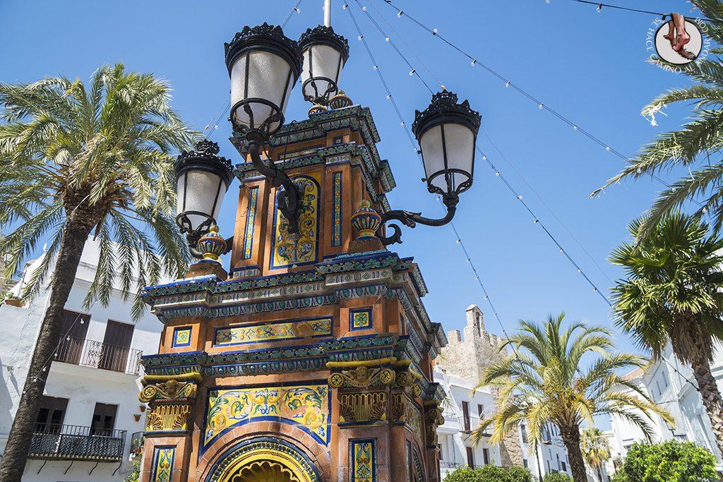 Vejer de la Frontera Plaza Espana fuente