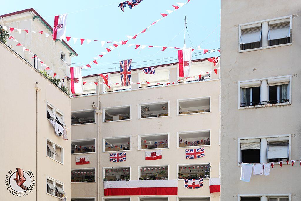 Ventanas banderas Gibraltar
