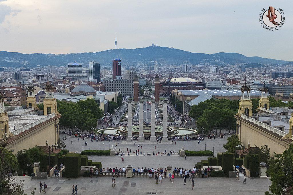 Vistas Terraza MNAC Barcelona