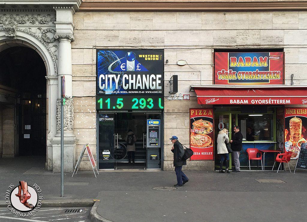 cambio moneda budapest