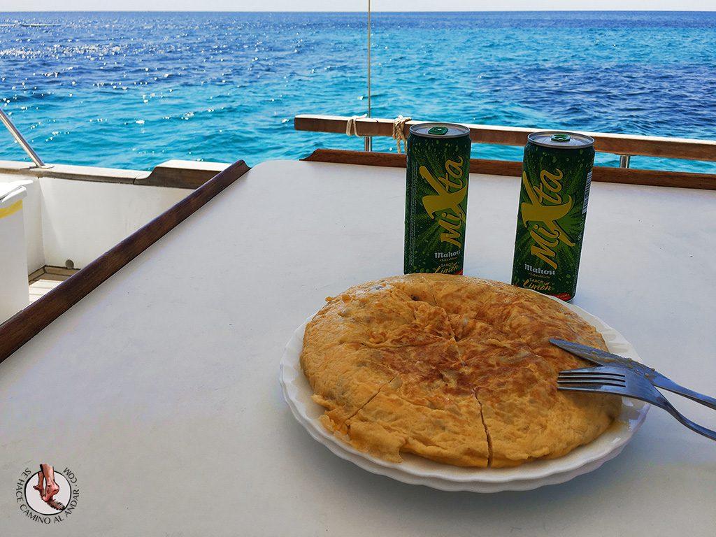 Comida llaut Formentera
