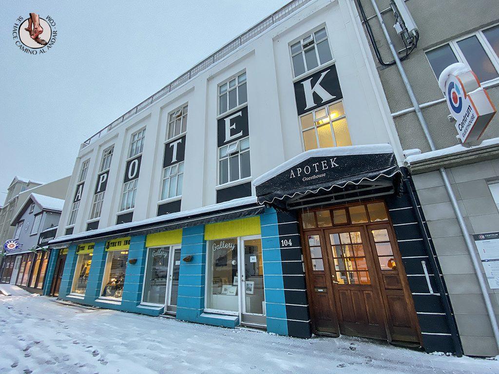 dormir en Akureyri apotek ghesthouse entrada