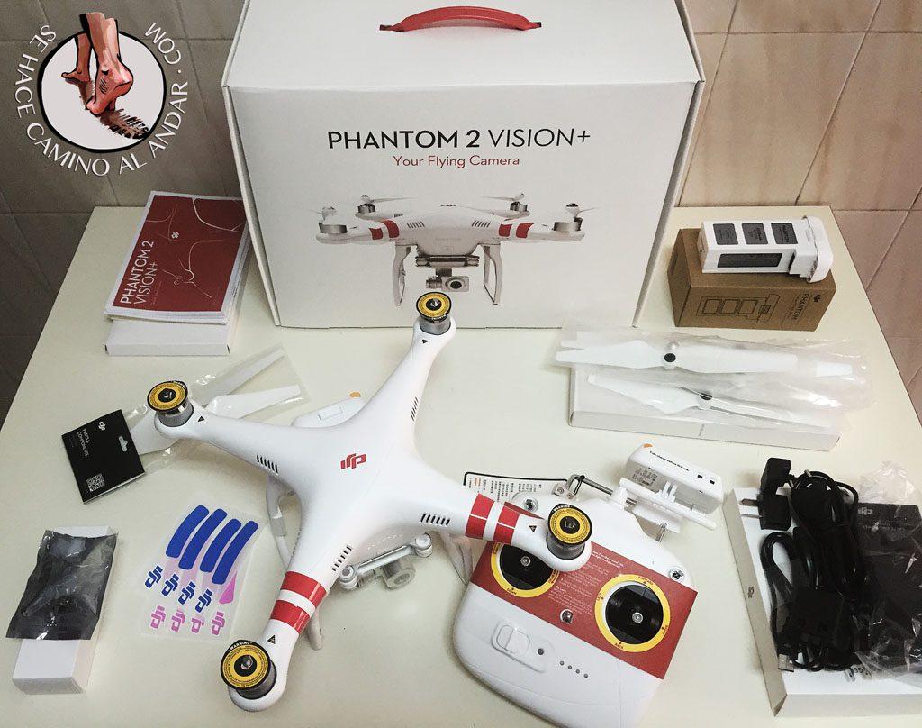 Configuración inicial del drone Phantom 2 Vision +