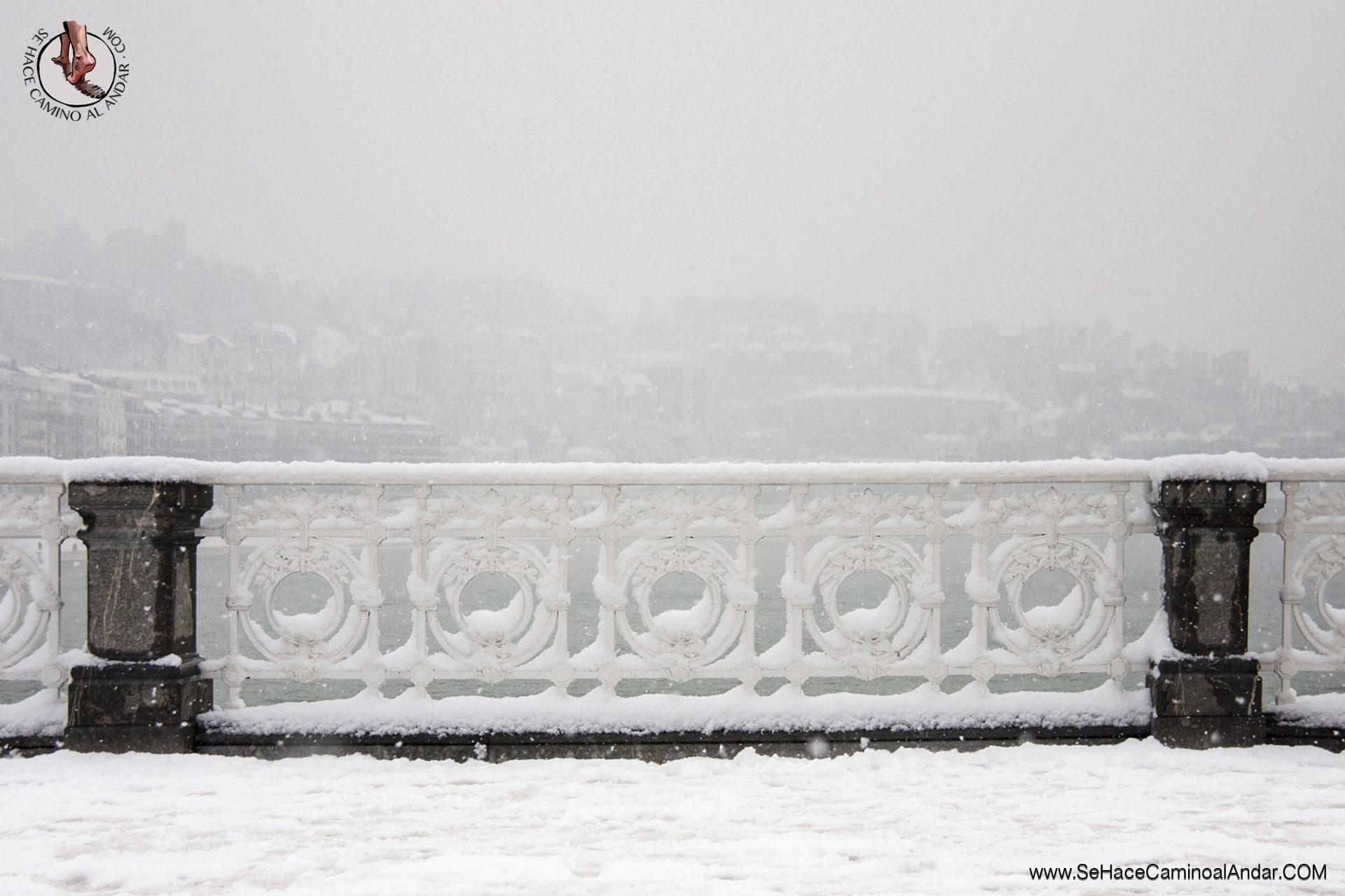fondo barandilla concha nieve