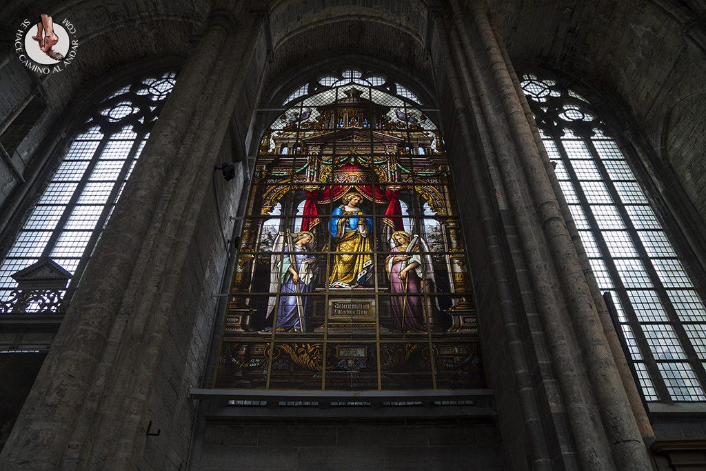 gante iglesia san nicolas vidrieras