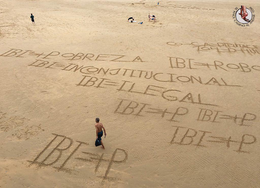 IBI=+P escrito playa La Concha