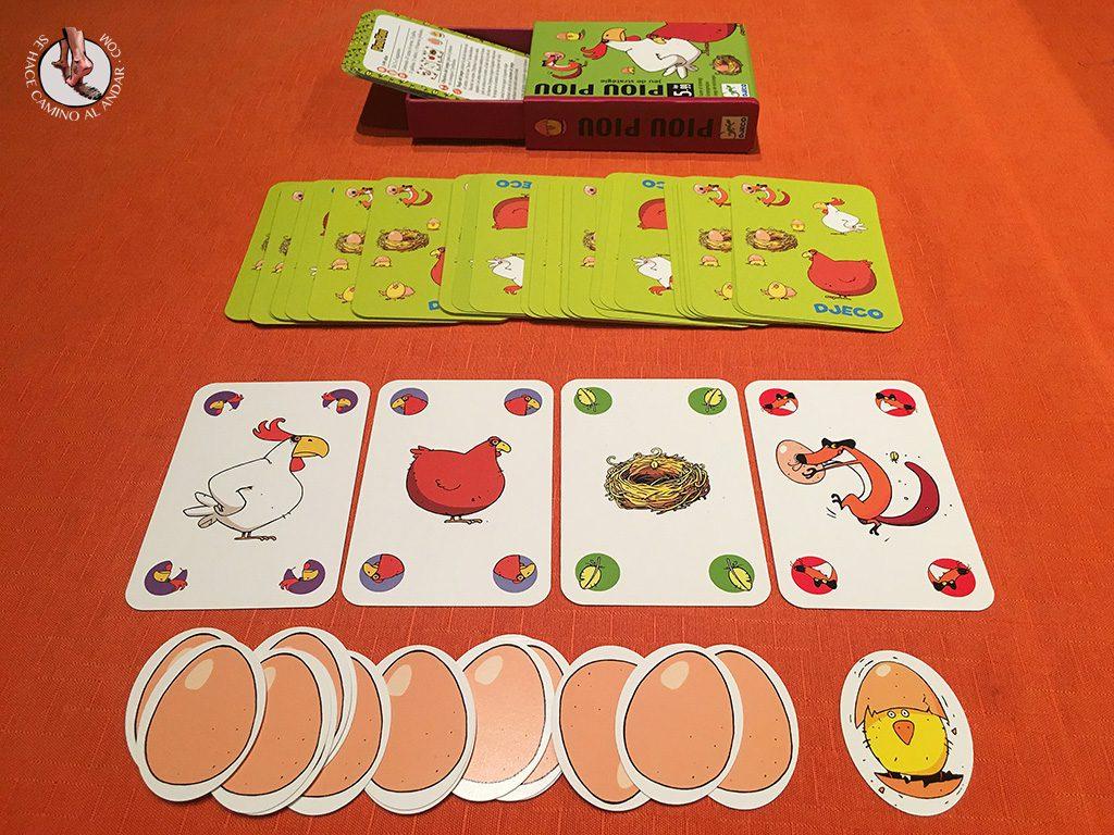 juegos de mesa para viajes piou piou cartas