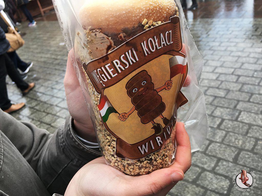 Kürtöskalács pastel polaco