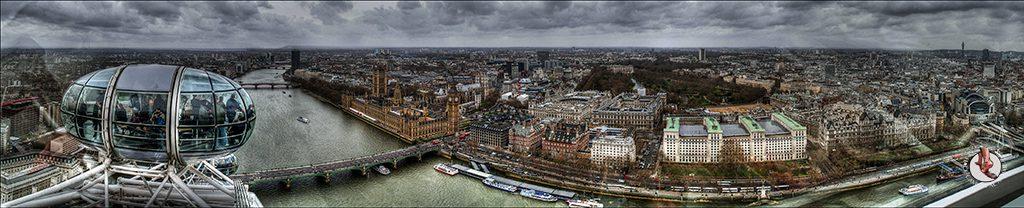 London Eye panorámica 180º