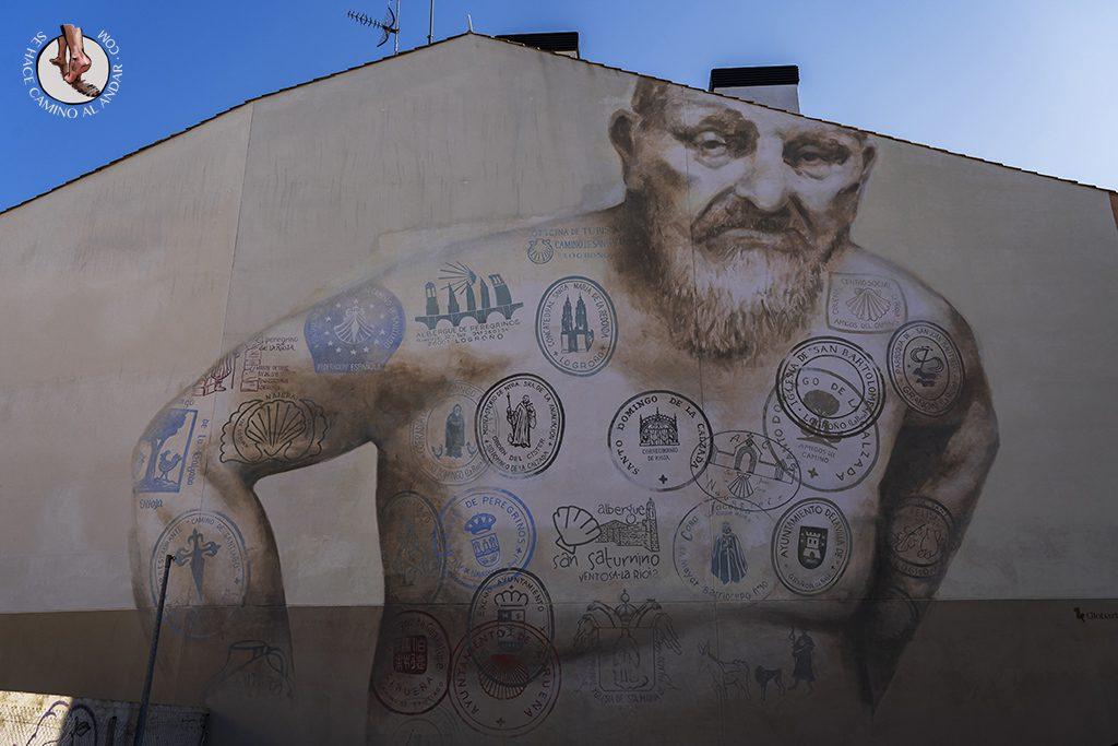 mural logroño camino santiago
