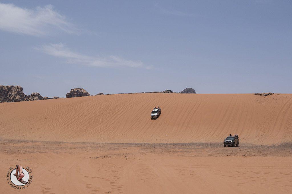 organizar viaje a jordania wadi rum 4x4 duna