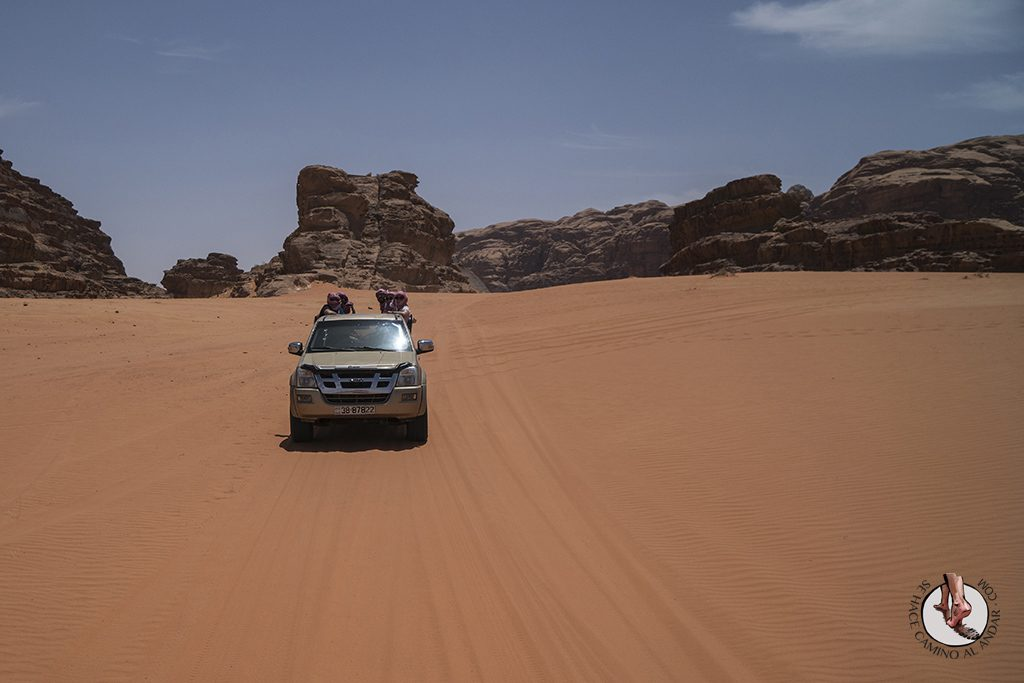 organizar viaje a jordania wadi rum 4x4
