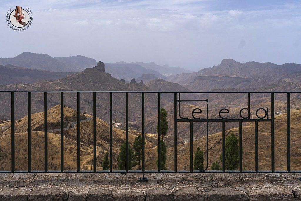 pueblos más bonitos de Gran Canaria tejeda mirador