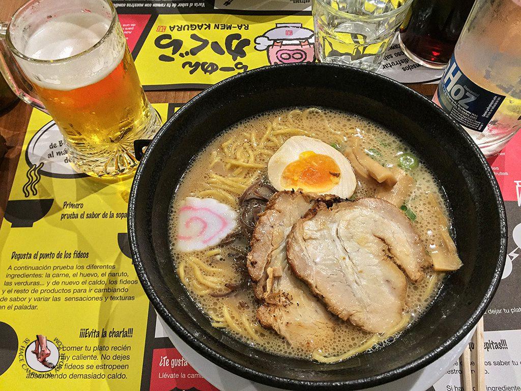 que comer madrid ramen kagura japones
