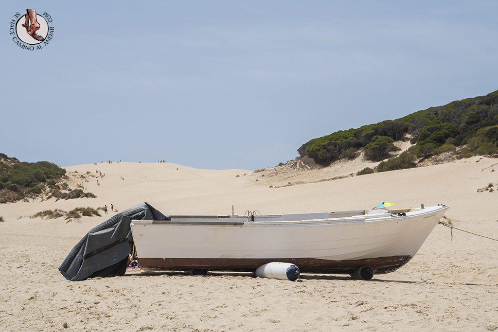 que ver en Tarifa playa de bolonia barca