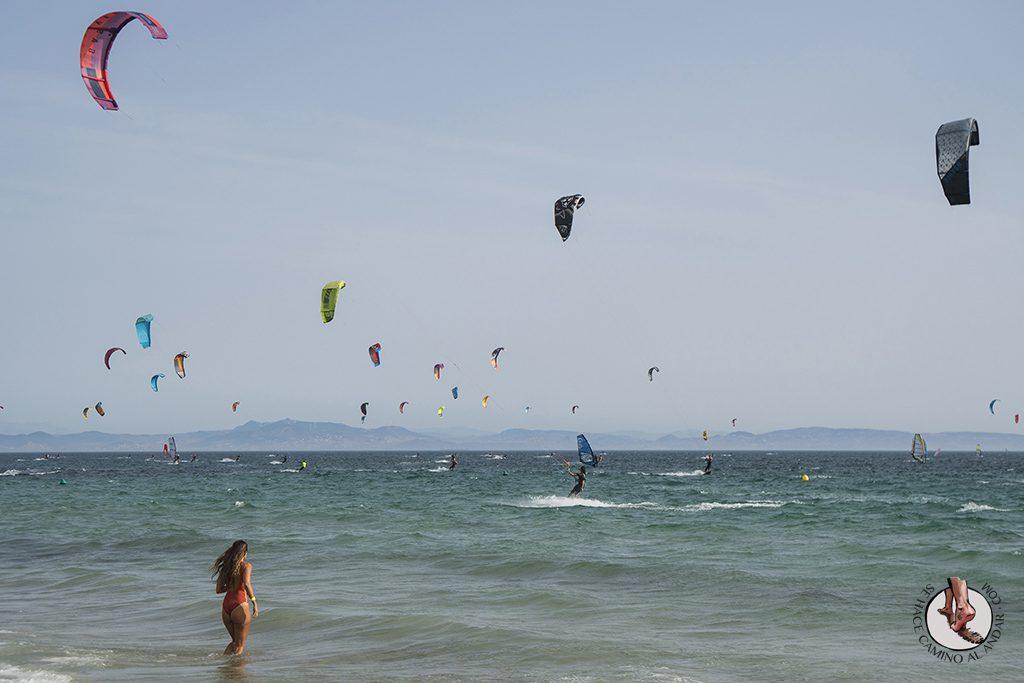 que ver en Tarifa playa valdevaqueros windsurf