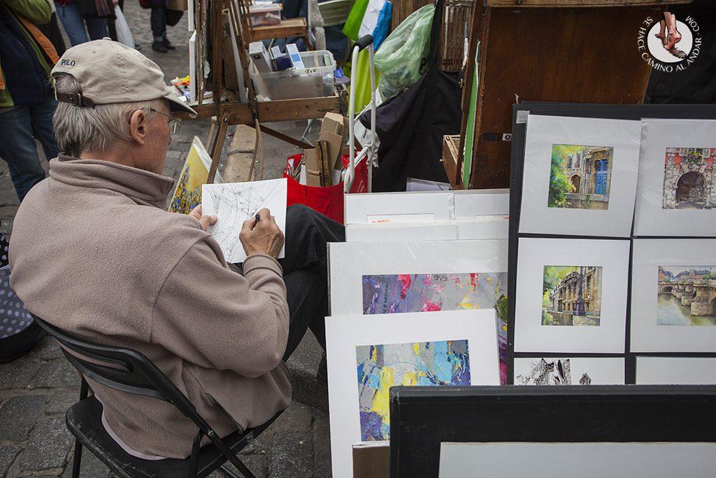 que ver en paris barrio montmartre plaza de los pintores
