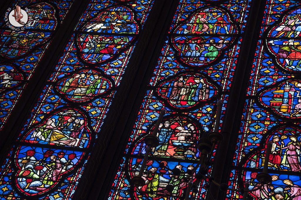 que ver en paris saint chapelle vidriera lateral detalle