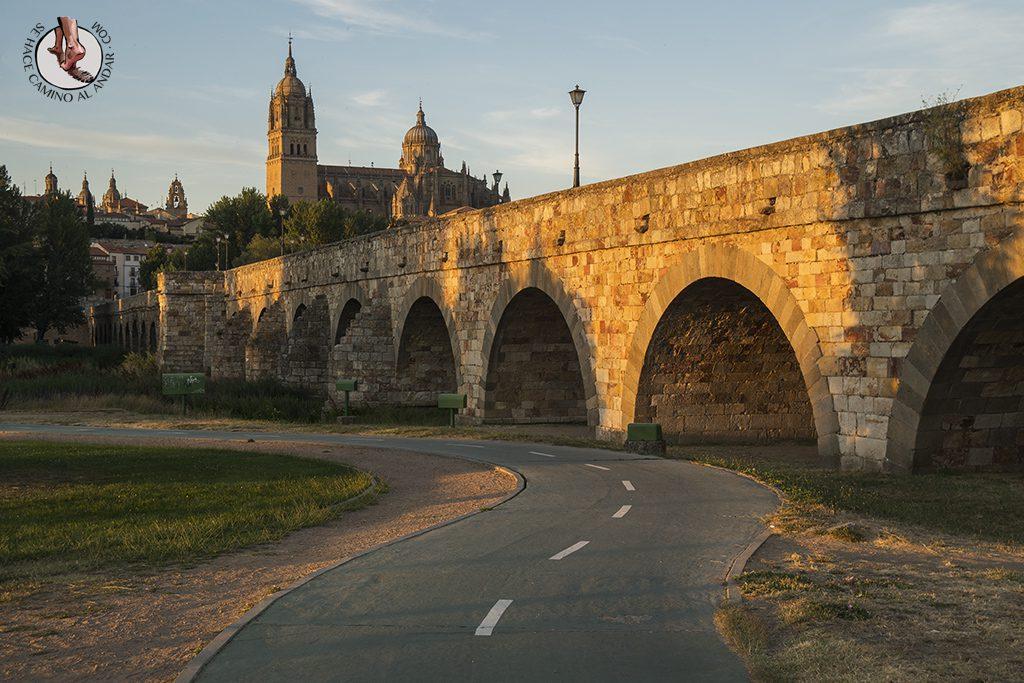 que ver en salamanca puente romano atardecer