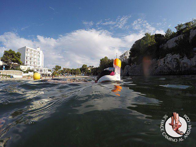 Snorkel en menorca Easybreath