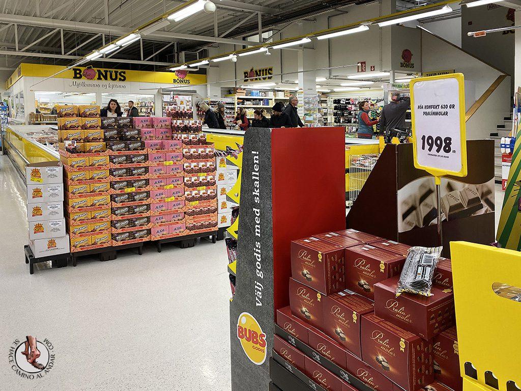 supermercado barato islandia bonus estanterias