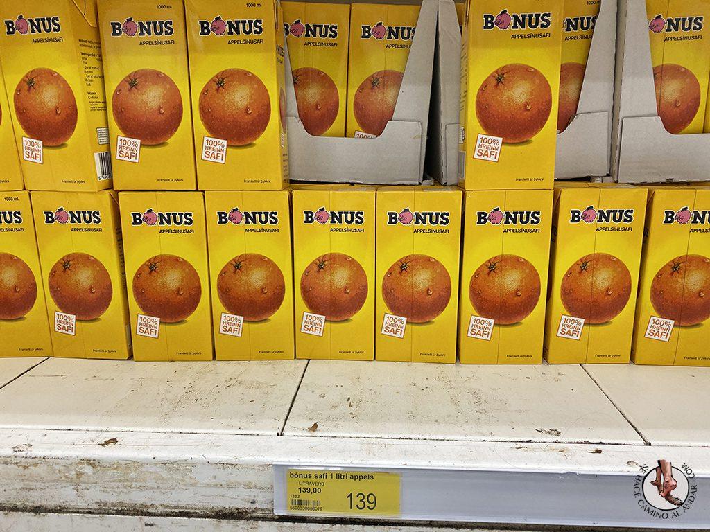 supermercado barato islandia bonus zumo