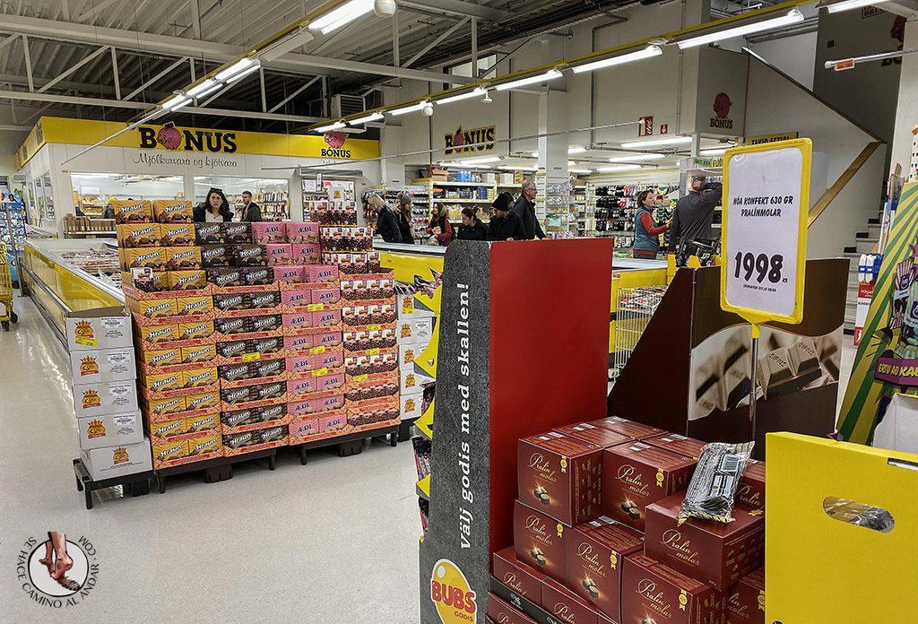 viajar a Islandia supermercado bonus