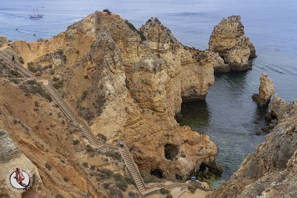 visitar algarve Ponta da Piedade escaleras
