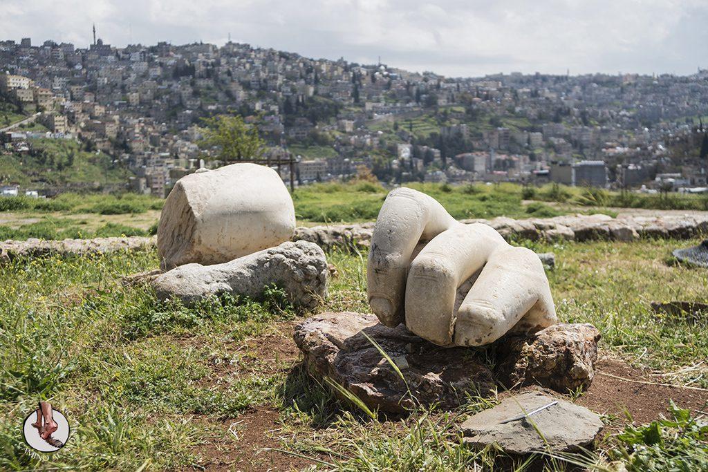 visitar amman un dia ciudadela templo hercules estatua